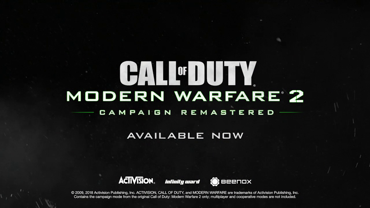 Call Of Duty Modern Warfare 2 Campaign Remastered Releases March 31st First On Playstation 4 Cod Tracker