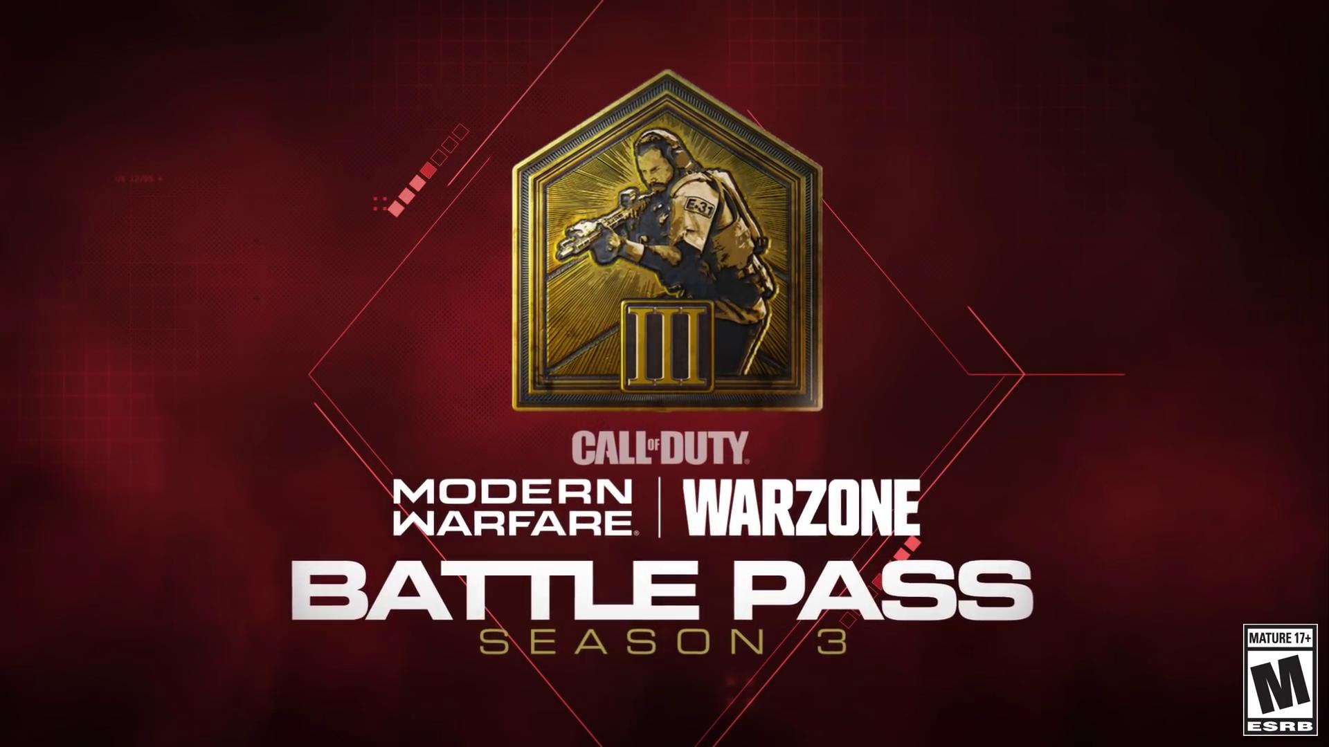 Call Of Duty Modern Warfare And Warzone Season 3 Battle Pass