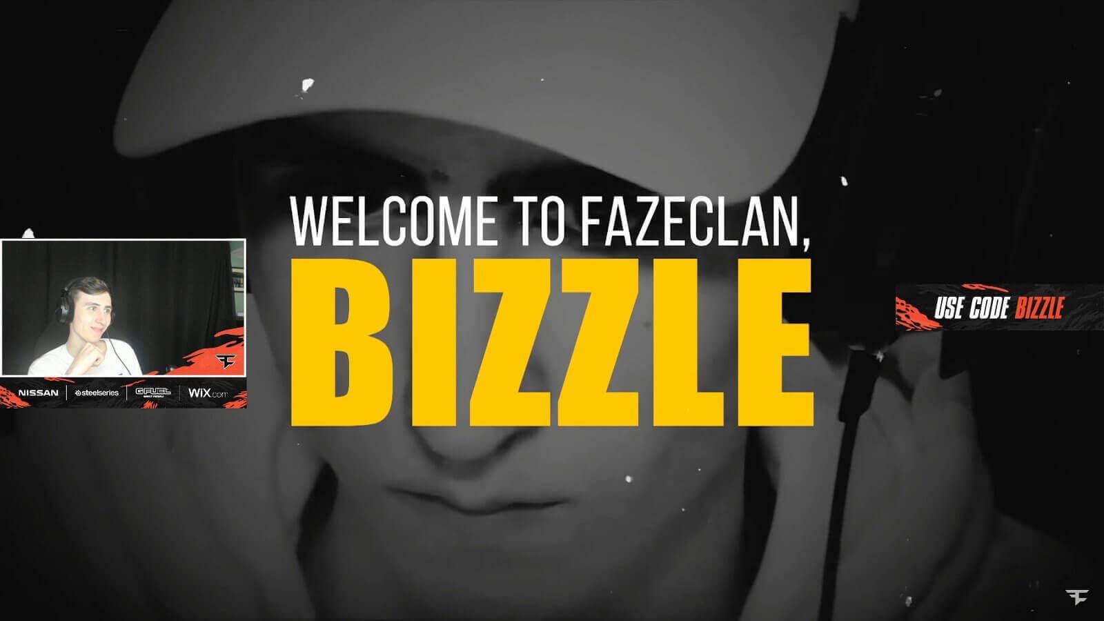 Bizzle joins Faze as team doubles down on Fortnite
