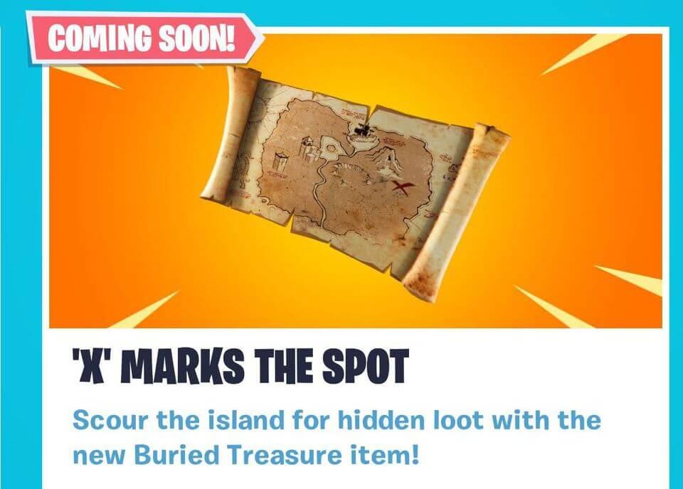 Treasure Chest Map Fortnite Fortnite To Add Buried Treasure In Next Update