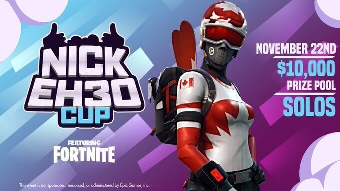 Nick Eh 30 ,000 solo tournament announced