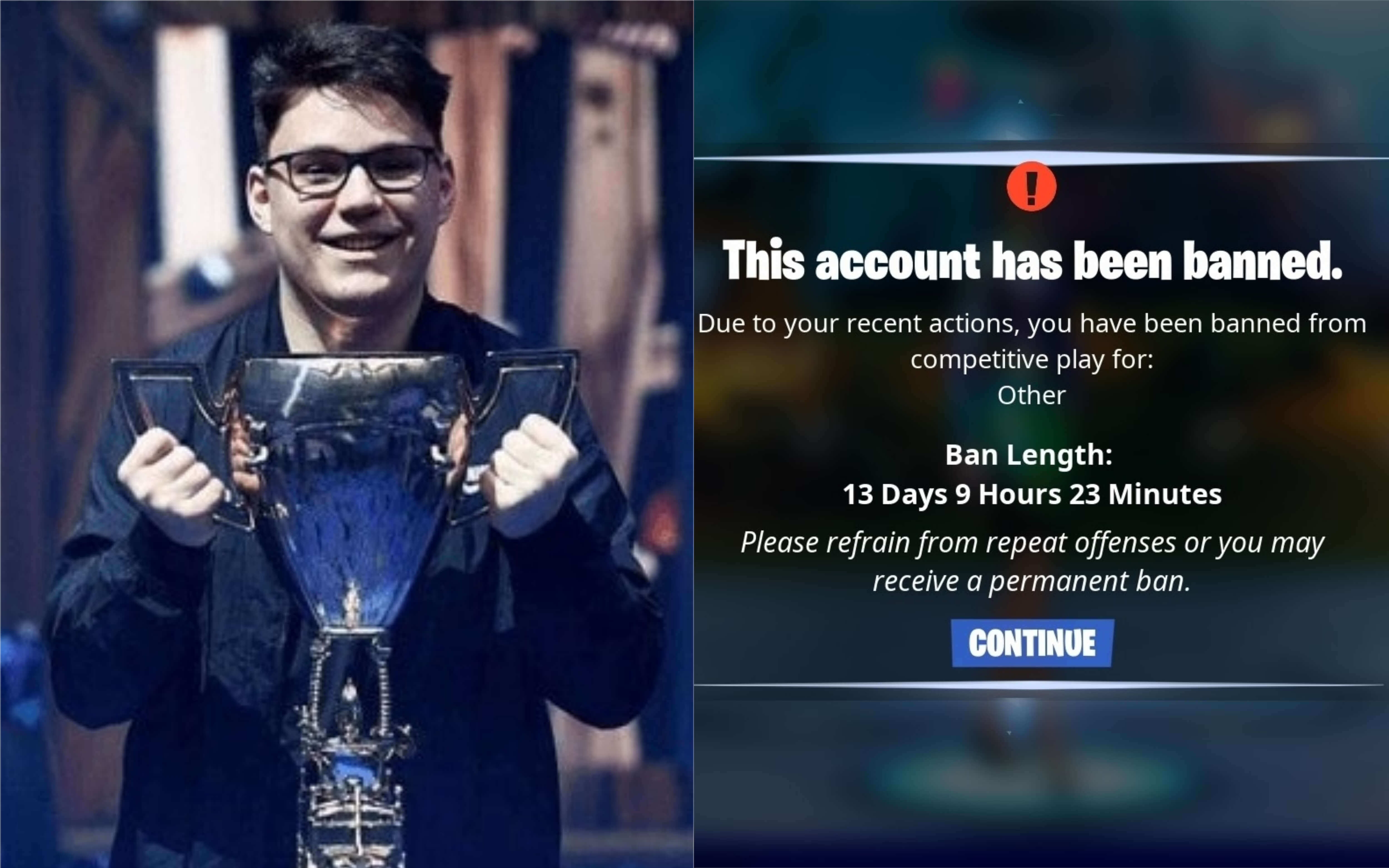 """World Cup Duos champ """"Aqua"""" banned after """"Benjyfishy"""" stream sniping allegations"""