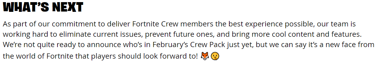 Epic teases new Fortnite Crew skin + paid custom matchmaking?