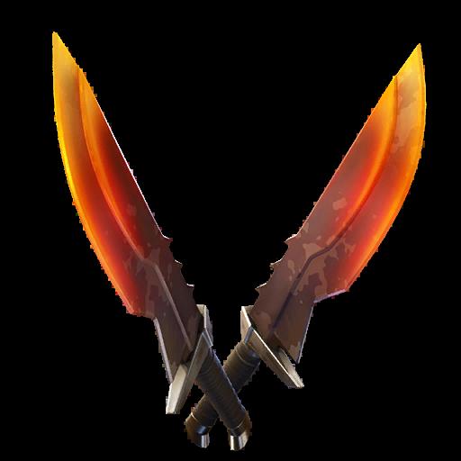 Burning Blades Skin fortnite store